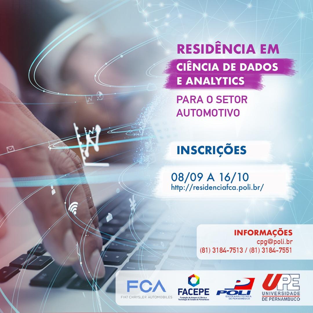Selecionados para Etapa de Entrevista – Residência em Ciência de Dados e Analytics (FACEPE/UPE/FCA)